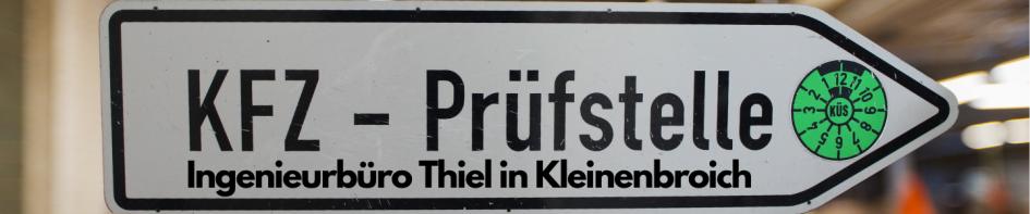 KÜS Kfz-Prüfstelle Kleinenbroich Verkehrsschild